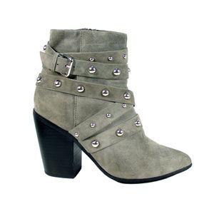 RAYE Erika Suede Studded Booties Heeled Boots